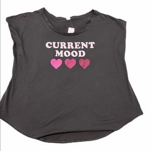 Sears Current Mood Heart Muscle Shirt Gray 1X